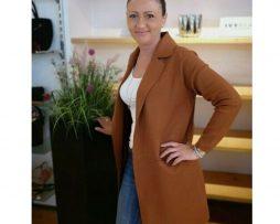 Damen Trend Cardigan 1125 Strickmantel Longshirt Strickjacke Jacke Mantel Kaki v80mNnywOP